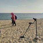 Kore'deki plajda Kruzer ile