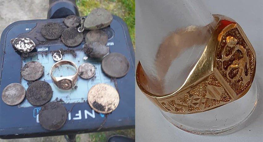 Anfibio ile altın yüzük