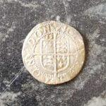Kraliçe Elizabet Half Penny Gümüş Sikke