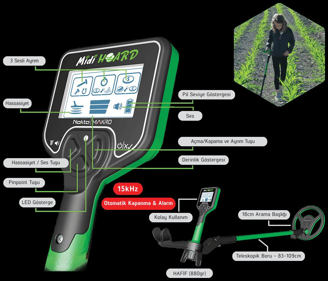 Nokta Makro Midi Hoard Teknik Özellikler