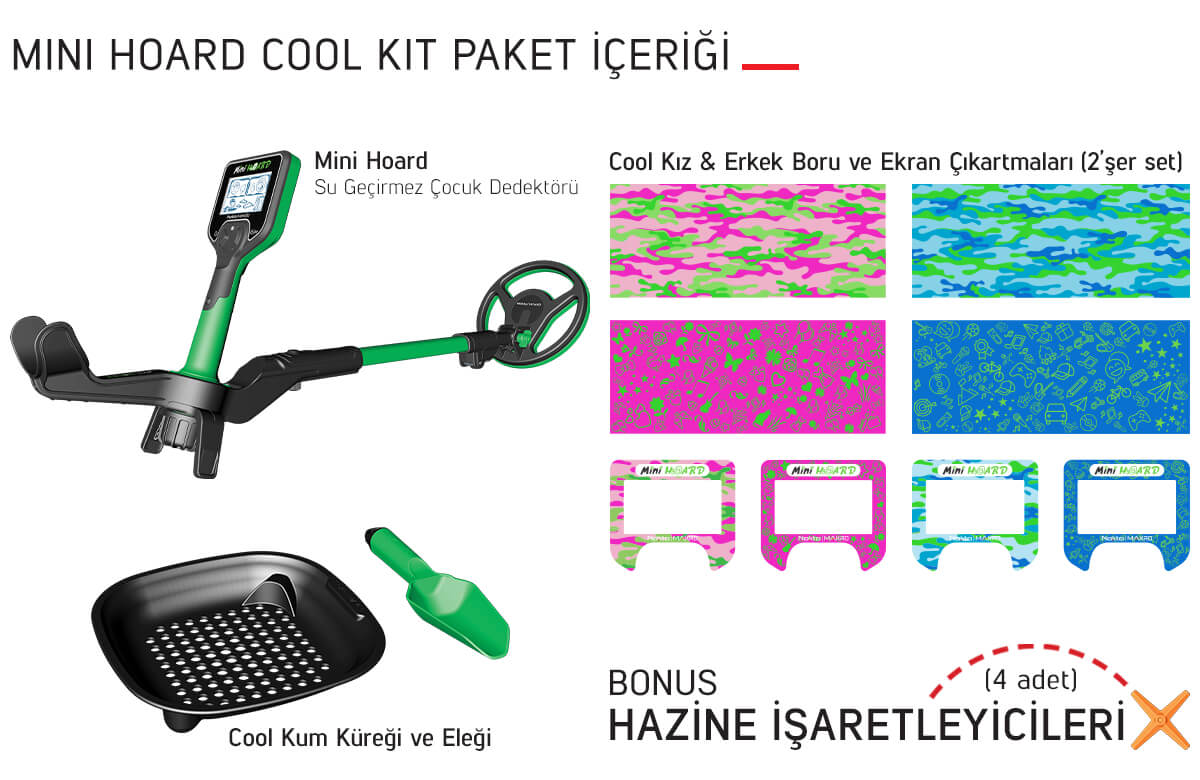 Mini ve Midi Hoard Çocuk Dedektörü Slider Mini Hoard Cool Kit