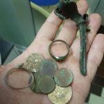 Simplex Dedektör ile bulunan bozuk para, yüzük ve metal obje