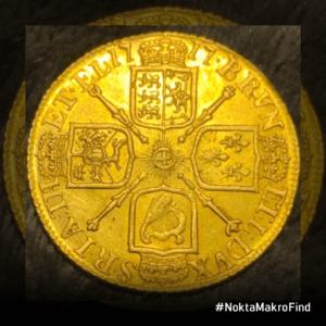 1717 I. George Altın Guinea Tarihi Sikke Arka Yüzü