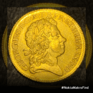 1717 I. George Altın Guinea Tarihi Sikke Ön Yüzü