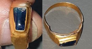 Simplex'le Safir Taşlı Altın Ortaçağ Yüzüğü