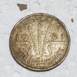1961 İkinci Kraliçe Elizabeth Gümüş Para - 2