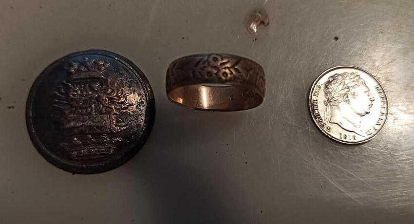 Simplex Dedektörle Yüzük, Para ve Düğme - Kapak